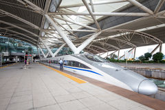 The Guangzhou south railway station is new and modern railway station. Royalty Free Stock Image
