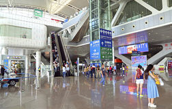 Guangzhou south railway station west arrival area Royalty Free Stock Photos