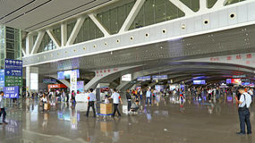 Guangzhou south railway station west arrival area Royalty Free Stock Image