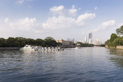 Guangzhou stad i Kina Arkivfoton