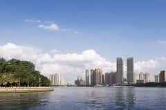 Guangzhou stad i Kina Arkivfoto