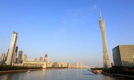 Guangzhou stadshorisont fotografering för bildbyråer
