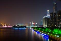 Guangzhou stadsnatt Royaltyfria Bilder