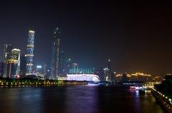 Guangzhou stadsnatt Royaltyfri Bild