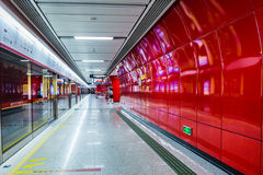 Guangzhou subway station Royalty Free Stock Photography