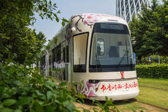 Guangzhou tourist attractions of rail vehicles, trams. Stock Photo