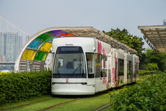Guangzhou tourist attractions of rail vehicles, trams. Royalty Free Stock Photography