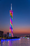 Guangzhou Tower or Canton tower, formally Guangzhou TV Astronomical and Sightseeing Tower Stock Photos