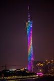 Guangzhou Tower, landmark of Guangzhou Stock Photo