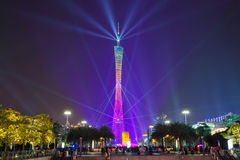 Guangzhou tower at 2016 lunar new year Royalty Free Stock Photo