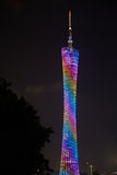 Guangzhou Tower. It was topped-out in 2009 and became operational on September 29, 2010 for the 2010 Asian Games Royalty Free Stock Photography