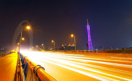 Guangzhou traffic night Stock Image
