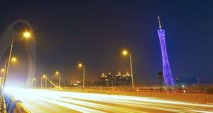 Guangzhou traffic night Royalty Free Stock Image