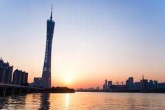 Guangzhou-Turm- oder -bezirkturm, formal Guangzhou Fernsehen astronomisch und Besichtigungs-Turm lizenzfreies stockbild