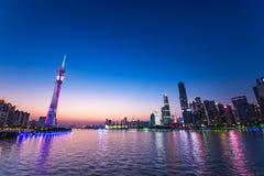 Guangzhou-Turm- oder -bezirkturm, formal Guangzhou Fernsehen astronomisch und Besichtigungs-Turm stockfoto