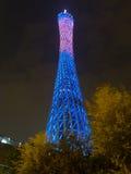 Guangzhou tv basztowy noc widok zdjęcia royalty free