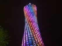Guangzhou tv tower night view. The night view of the guangzhou tv tower Stock Photo