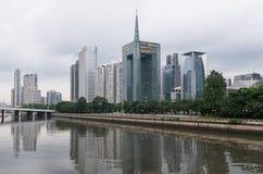Guangzhou und Pearl River, China Stockfotos