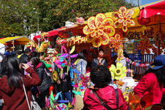 Guangzhou-Winterjasmin-Blumenmarkt 2016 Lizenzfreie Stockfotografie