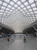 Guangzhounan Railway Station, large modern rail terminal in Guangzhou, China. Royalty Free Stock Photos