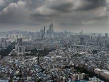 Guangzhoutoren stock afbeeldingen