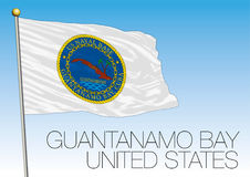 Guantanamo bay flag, United States of America. Vector file, illustration Stock Photo