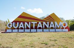 Guantanamo. Is a municipality and a city in the Southeast of Cuba and capital of the  province. About 15 km outside the town lies  Bay, a natural harbour wich Royalty Free Stock Photos