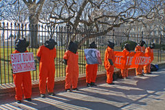 Guantanamo Protesters. Uighur Guantanamo protesters at the White House Royalty Free Stock Photography