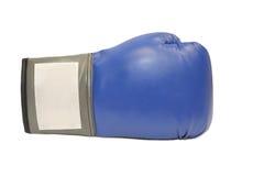 Guante de boxeo azul en el fondo blanco Imágenes de archivo libres de regalías