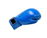 Guante de boxeo protector azul imagen de archivo
