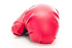 Guante de boxeo rojo Imagenes de archivo