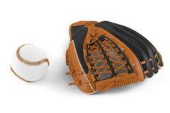 Guante de cuero del béisbol  Fotos de archivo libres de regalías