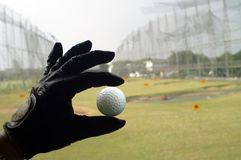 Guante de golf Fotografía de archivo libre de regalías