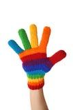 Guante del arco iris Fotos de archivo libres de regalías