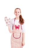 Guante joven de la cocina del control del cocinero Fotografía de archivo libre de regalías