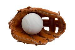 Guante y bola de béisbol Fotos de archivo libres de regalías