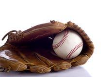 Guante y bola de béisbol Imagen de archivo