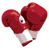 Guantes de boxeo con el camino de recortes Imágenes de archivo libres de regalías