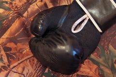 Guantes de boxeo de cuero Fotos de archivo libres de regalías