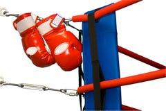 Guantes de boxeo del anillo Foto de archivo libre de regalías