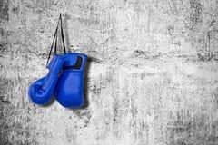 Guantes de boxeo en la pared Imagen de archivo