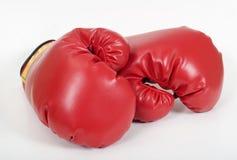 Guantes de boxeo rojos Fotos de archivo