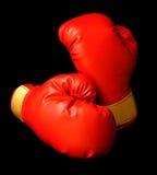 Guantes de boxeo rojos Foto de archivo libre de regalías