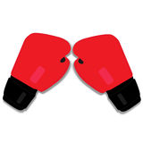 Guantes de boxeo rojos Foto de archivo