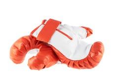Guantes de boxeo rojos aislados Foto de archivo libre de regalías
