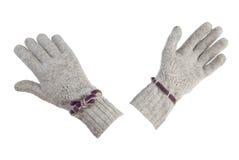 Guantes de lana femeninos | Aislado Fotos de archivo libres de regalías