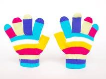 Guantes de los niños coloridos Imágenes de archivo libres de regalías
