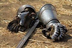 Guantes del hierro Imagen de archivo libre de regalías