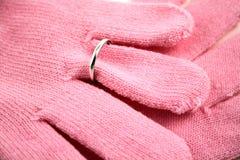 Guantes rosados foto de archivo