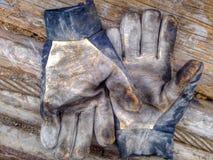 Guanti del lavoro sporco Fotografia Stock